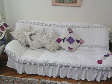 Eski ''yatak'' örtüm Yeni ''koltuk '' örtüm oldu!