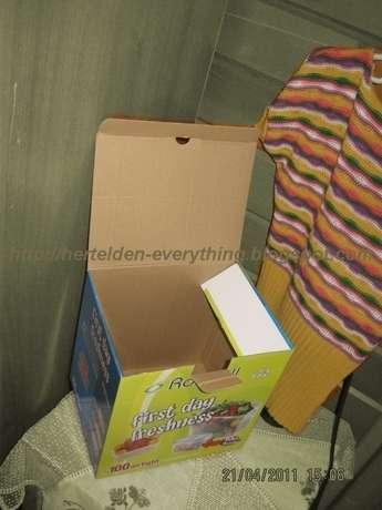 Bu benim neredeyse atmak üzere olduğum kutu