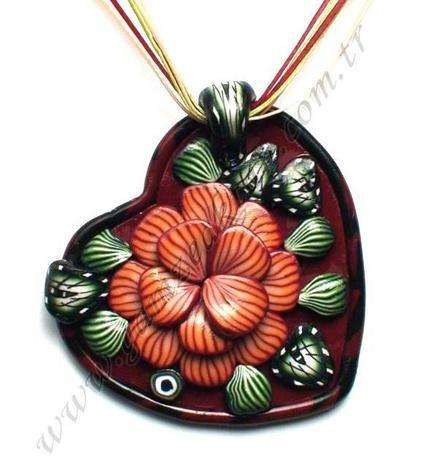 Polymer clay necklace design
