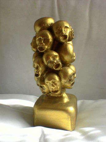 Çığlık - alçı heykel - 25cmX10cmX10cm