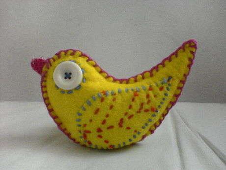 çakma keçe kuş:)