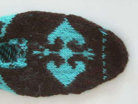 Alabora -Türk kilim motifli patik