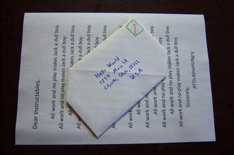 zarf/mektup