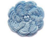 mavi çiçek motifi