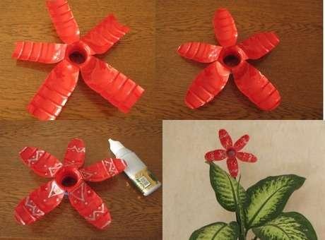 pet şişeden çiçek yapımı 2