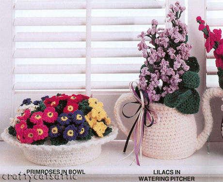 örgü çiçekler