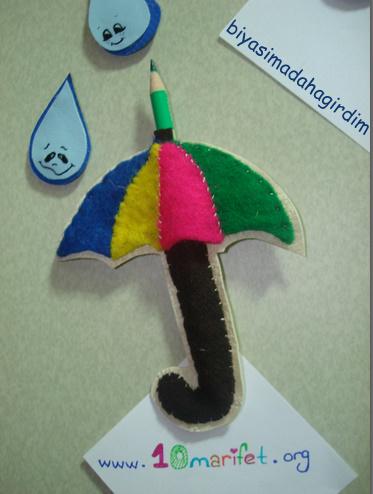 keçe şemsiye- kalem cebi