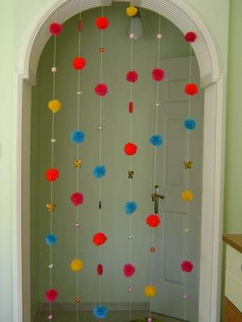 Kapı süsü hem de rengarenk:)