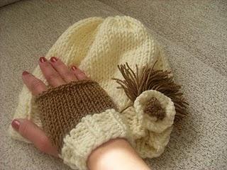 kendime ördüğüm şapka ve eldiven