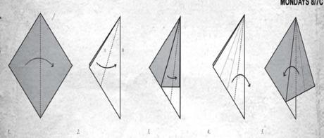 origami tuna kuşu adım-1