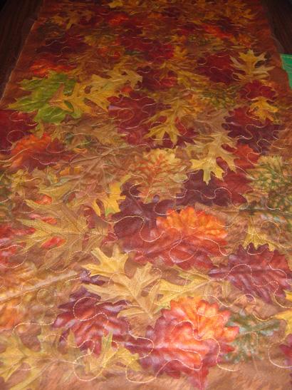 yapraklardan masa örtüsü
