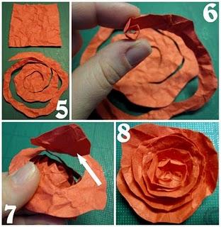 kağıttan gül yapımı