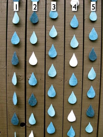 keçe yağmur damlası kapı süsü