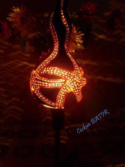 Deniz yıldızı su kabağı lamba