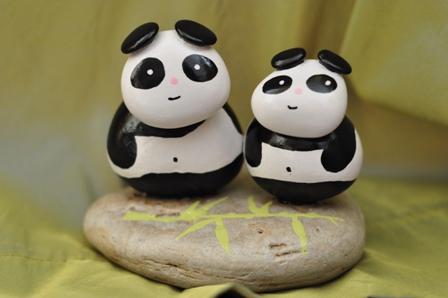 Taştan Pandalar yaptım...