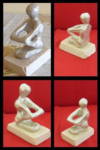 havada kuruyan seramik hamuru ikinci heykel