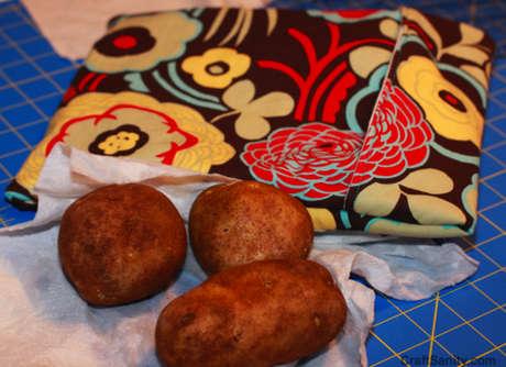mikrodalgada patates pişirme çantası