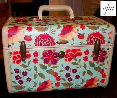 Vintage eski kaliteli bir valiz çantayı, şık bir valiz çantaya dönüştürün