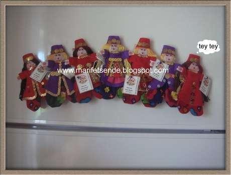 kına hediyeliği buzdolabı süsü-bindallı giymiş bebekler
