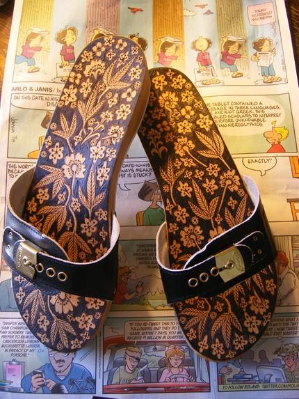 tahta sandalet
