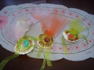 deniz kabuklarından nikah şekeri