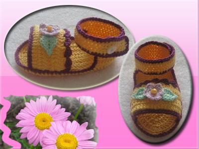 Tığ işi Sandalet Yapımı