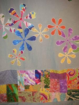 patchwork elbise detay