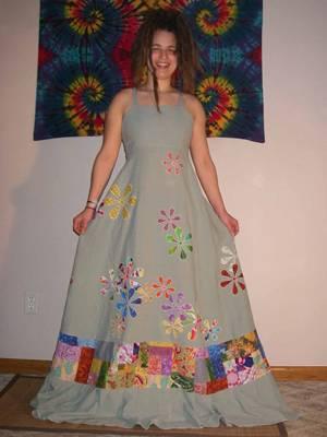 patchwork elbise
