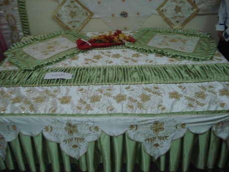 geçen sene öğrencime yaptırdığım sim işi yatak örtüsü