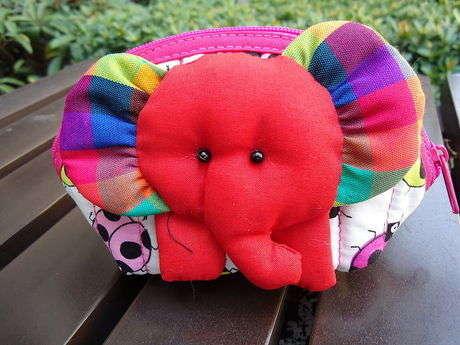 sevimli fil bozuk para cüzdanı