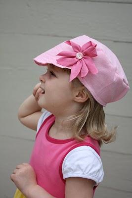 pembe çocuk şapkaları