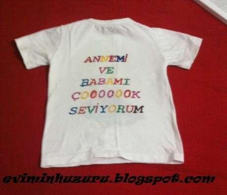 tişörtün arkası