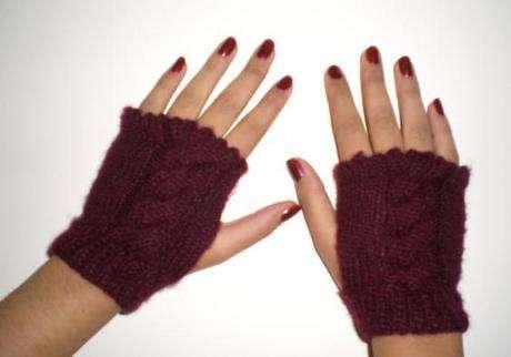 parmaksız şık bir eldiven