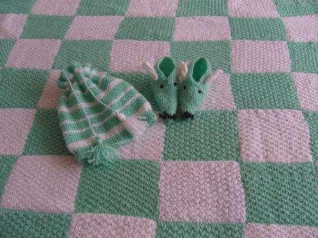 yeşil-beyaz bebe takımım