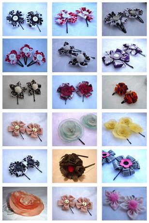 Kumaş Çiçek tokalar, flower pin, broche