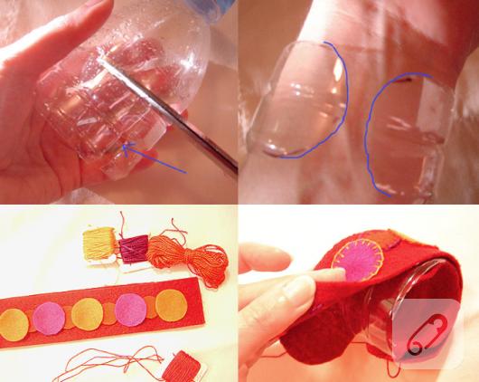 pet şişeden bileklik yapımı