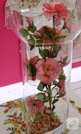 iğne oyası çiçek