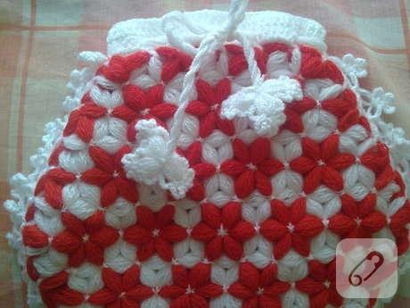 kırmızı beyaz örgü lif