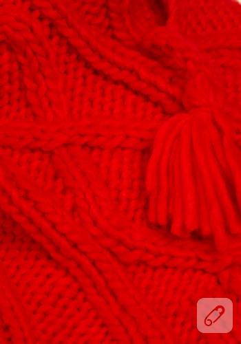 kırmızı çok amaçlı atkı modeli