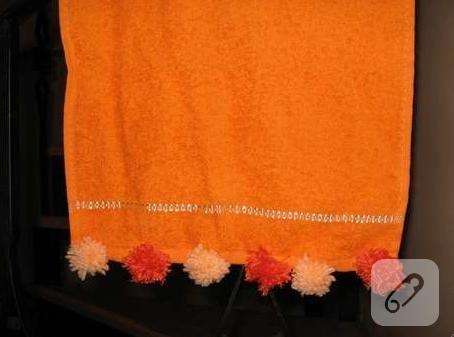 ponponlu havlu kenarı
