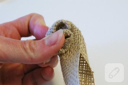 kıl çuvaldan bileklik yapımı