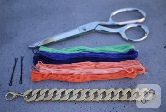 zincirli neon bileklik yapımı