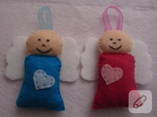 keçeden bebek şekeri modelleri