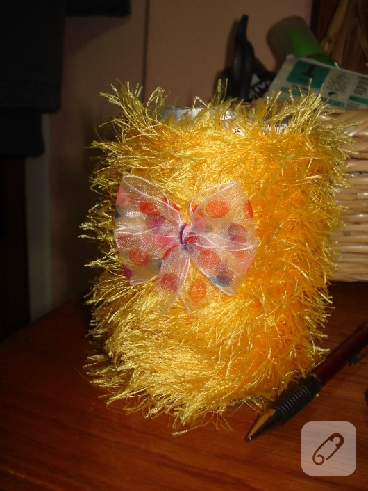 Pringles Kutusundan Kalemlik