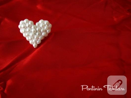 İnci Kalp Yüzük