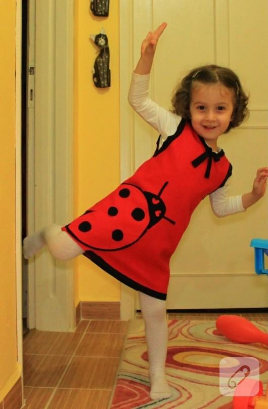 keçe çocuk elbisesi