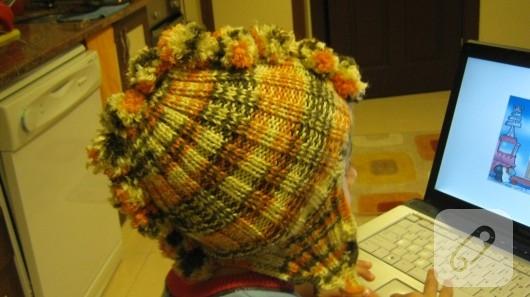 örgü çocuk şapkası