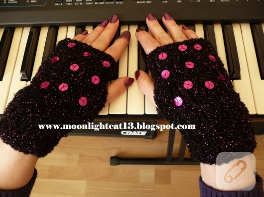 örgü parmaksız eldiven modelleri