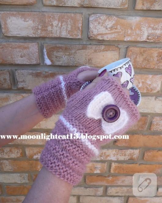 tığ işi eldiven modelleri