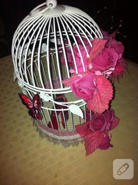 kuş kafesi süsleme